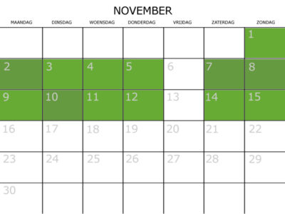 kalender november railfiets