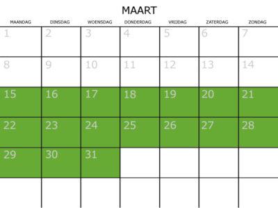 kalender maart railfietsen